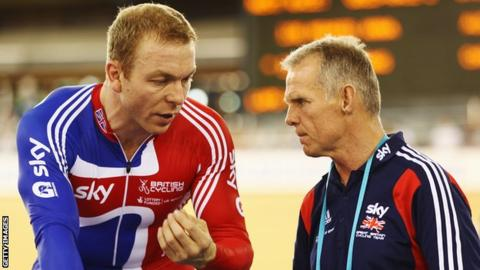 Shane Sutton (right) with Sir Chris Hoy