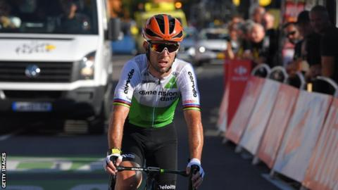 Mark Cavendish rides for Dimension Data