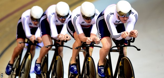 The GB men's pursuit team