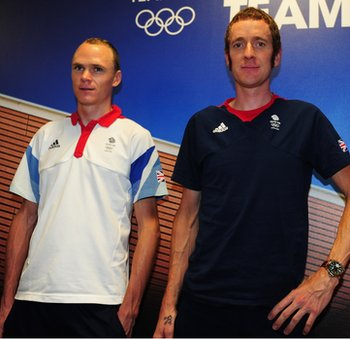 Chris Froome (left) and Sir Bradley Wiggins