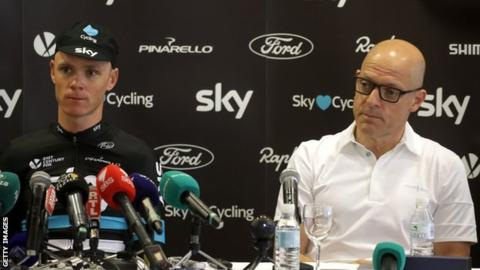 Chris Froome with Sir Dave Brailsford