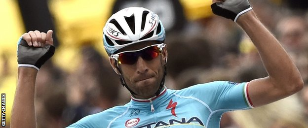 Vincenzo Nibali wins stage two
