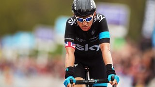 Geraint Thomas riding for Team Sky