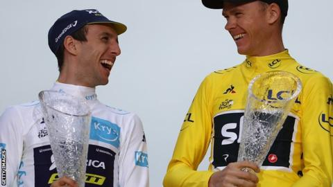 Simon Yates and Chris Froome