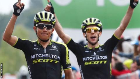 Esteban Chaves and Simon Yates