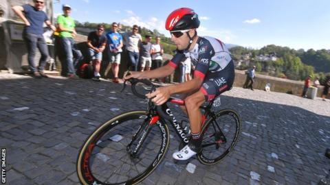UAE Team Emirates rider Kristijan Durasek