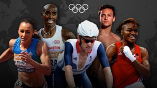 Jessica Ennis-Hill, Mo Farah, Sir Bradley Wiggins, Tom Daley and Nicola Adams
