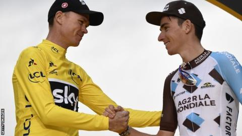 Chris Froome and Romain Bardet