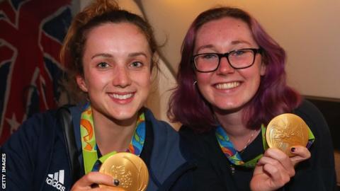 Elinor Barker and Katie Archibald