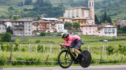Simon Yates pictured during a scenic stage 16 of the Giro d'Italia