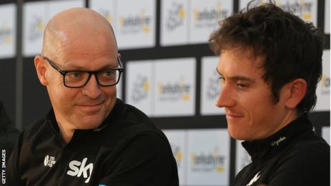 Sir Dave Brailsford and Geraint Thomas