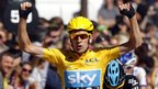 Bradley Wiggins becomes the first Britain to win the Tour de France after an epic three-week race that took in the Alps and Pyrenees before finishing on the Champs Elysees in Paris. It is a British one-two in the standings with his Team Sky team-mate Chris Froome finishing second. BBC Sport charts their journey