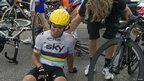Mark Cavendish after crashing on stage four