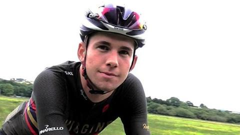 Welsh cyclist Scott Davies