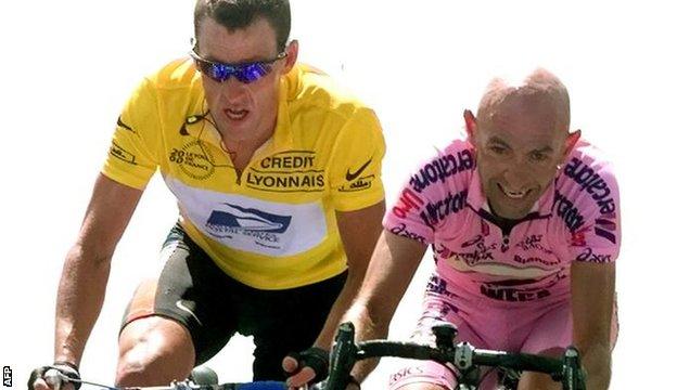 Lance Armstrong and Marco Pantani