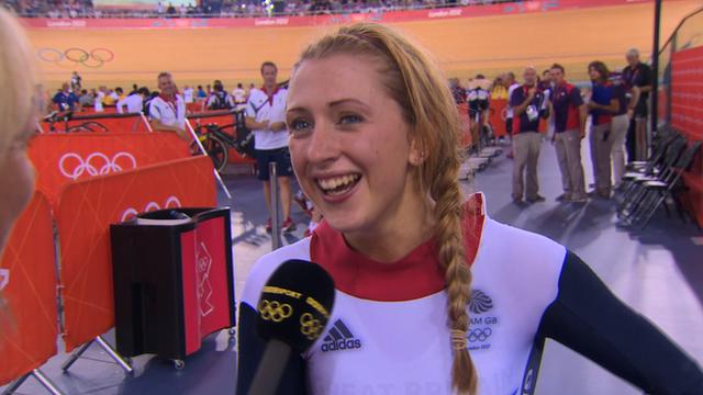 Laura Trott delighted after winning omnium