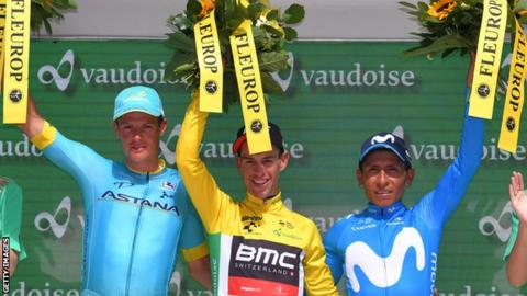 Richie Porte on Tour de Suisse podium