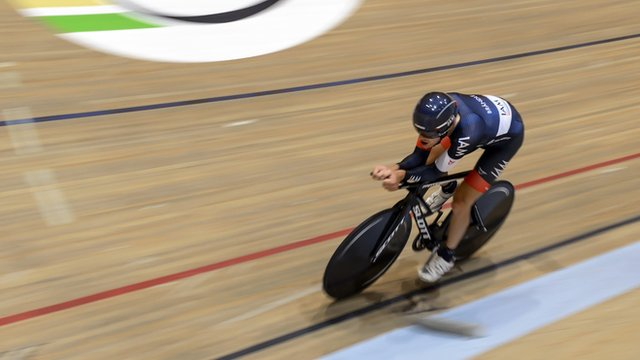 Austria's Matthias Brandle breaks one hour track cycling world record