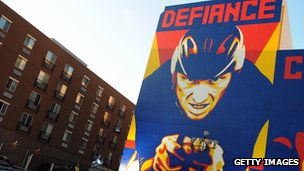 Armstrong defiance mural