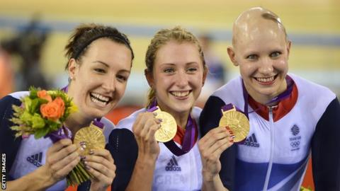 Dani Rowe, Laura Kenny and Jo Rowsell Shand