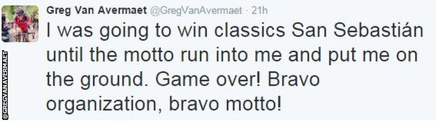 Greg van Avermaet tweet