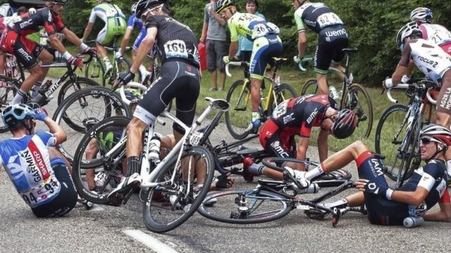 Week one of this year's Tour De France has been littered with high-profile crashes