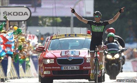 Edvald Boasson Hagen wins stage 17 of the Tour de France