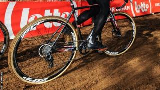 A rider at the Cyclo-cross World Championships