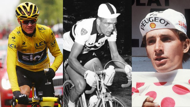 Britain's Chris Froome, Brian Robinson and Robert Millar