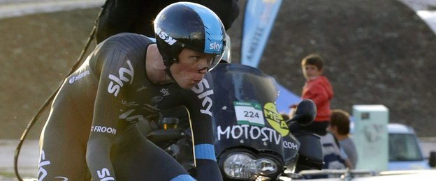 Chris Froome in action i Sunday's time trial