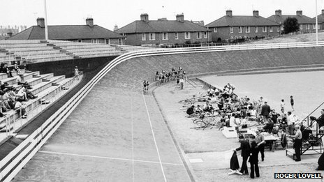 Saffron Lane Velodrome in 1968