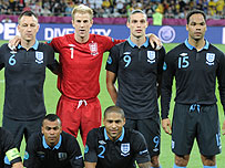 England's team against Sweden