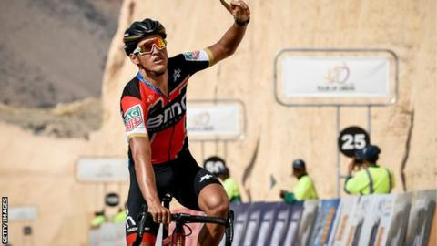 Greg van Avermaet competing in Oman