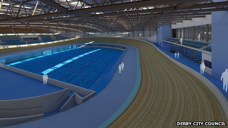 Artist's impression of Derby's new velodrome