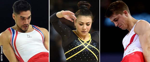 Louis Smith, Claudia Fragapane and Max Whitlock