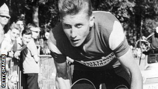 Jacques Anquetil in action during the 1961 Tour de France