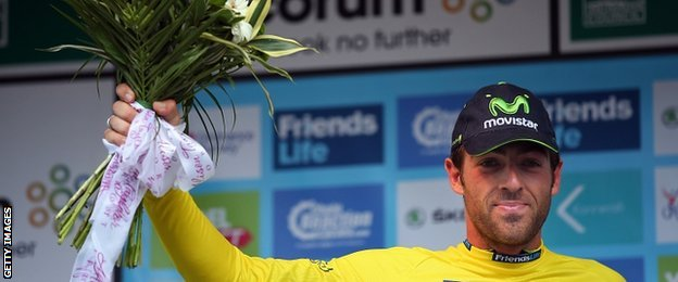 Alex Dowsett leads the Tour of Britain