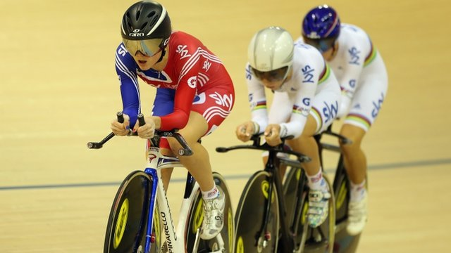 Great Britain's Women's Team Pursuit gold medalists