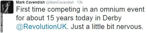 Mark Cavendish on twitter