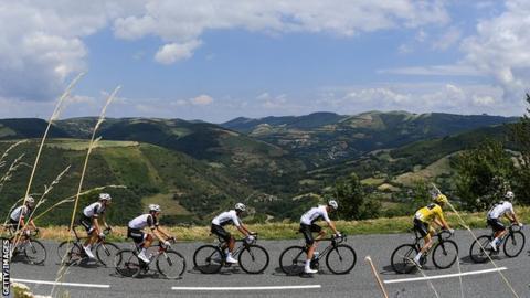 Egan Bernal and Geraint Thomas during the 2019 Tour de France