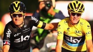 Geraint Thomas with Chris Froome