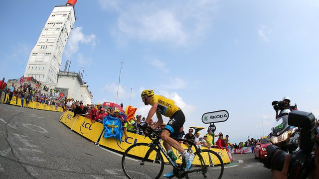 Britain's Chris Froome wins stage on Mont Ventoux