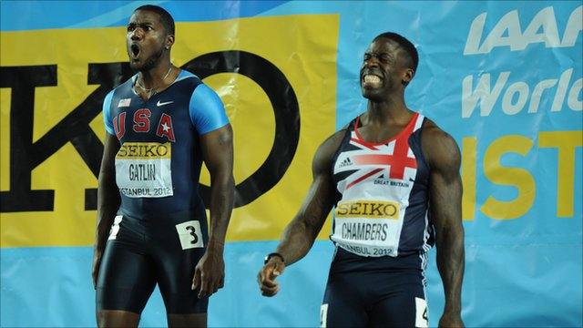 Justin Gatlin and Dwain Chambers