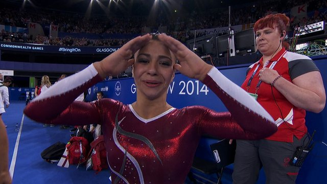 England's Claudia Fragapane reacts to victory