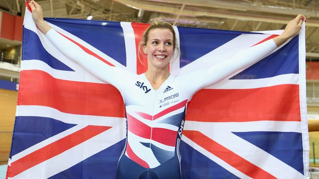 Double world champion Becky James