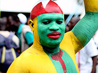 A colourful Togo fan