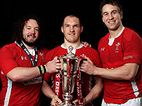 Adam Jones, Gethin Jankins and Ryan Jones