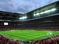 Wembley at the 2011 Champions League final