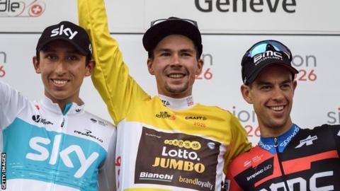 Tour of Romandie winner Primoze Roglic