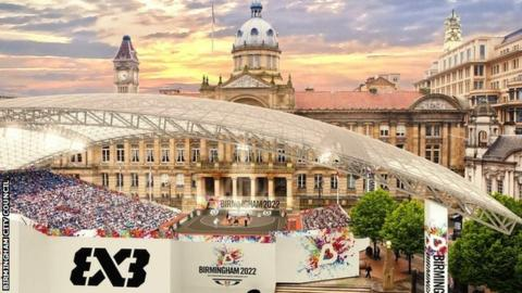 Artist impression of 2022 Commonwealth Games in Birmingham